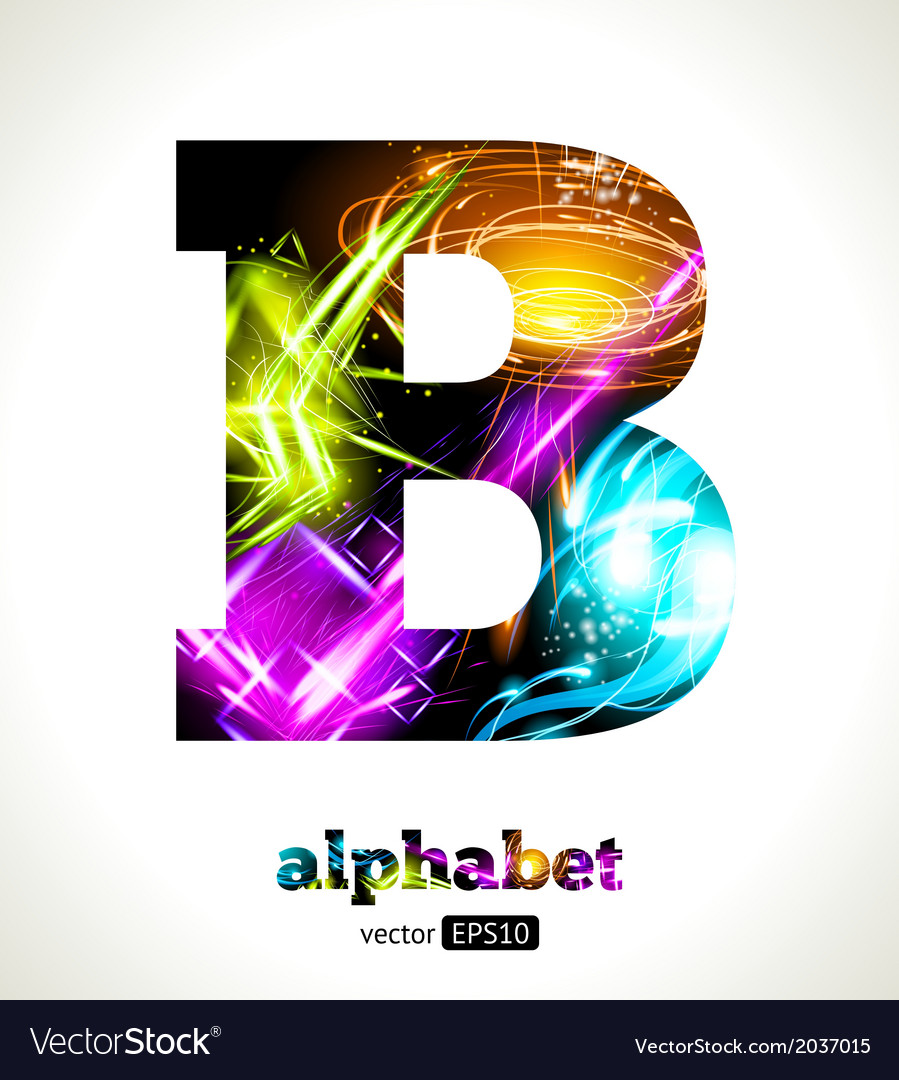 Design Abstract Letter B vector image