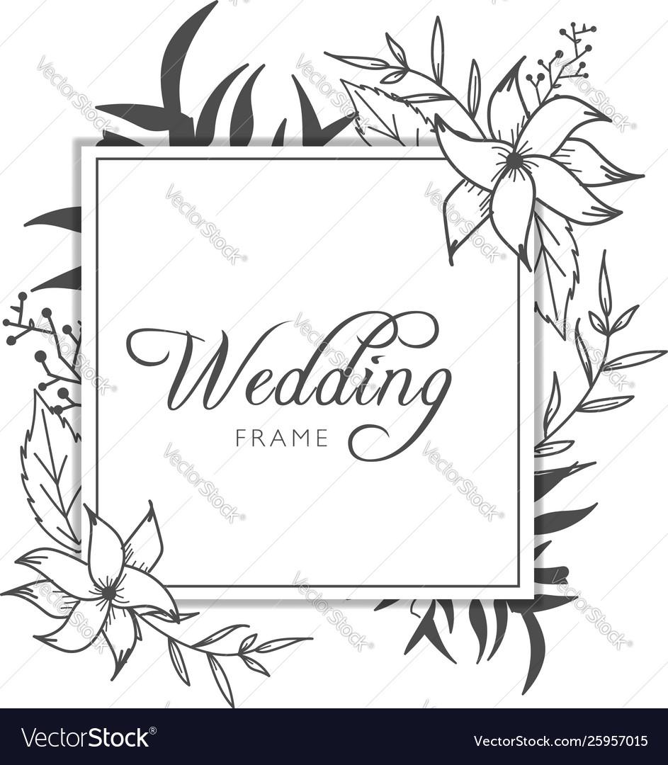 Elegant floral gold wedding invitation banner