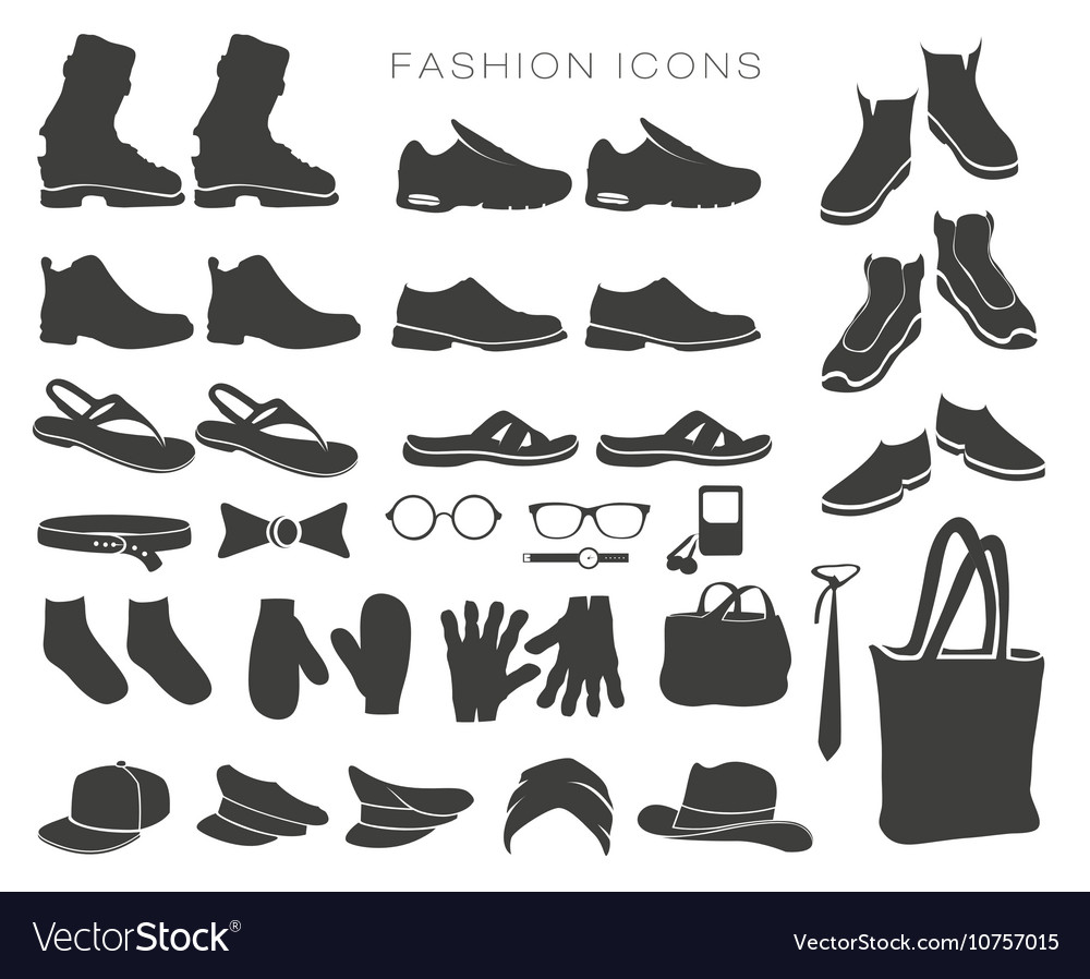 Icons and items of clothing silhouettes