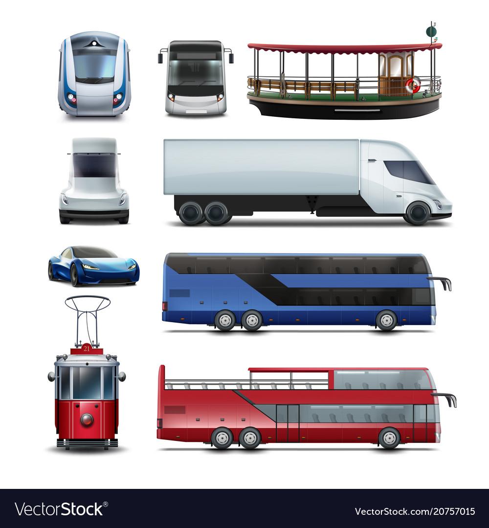 Set of public transport
