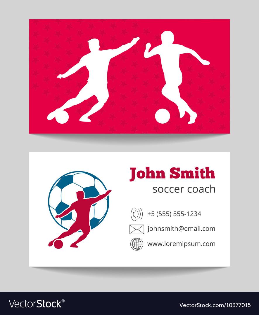 Soccer club business card