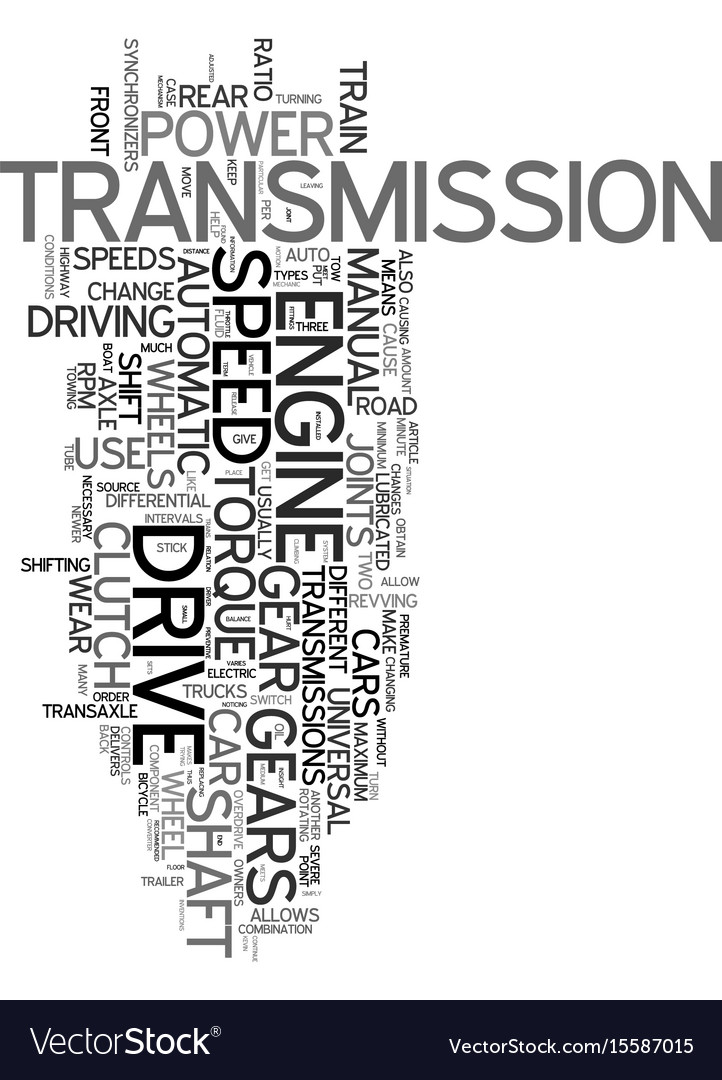Your drive train explained text word cloud concept