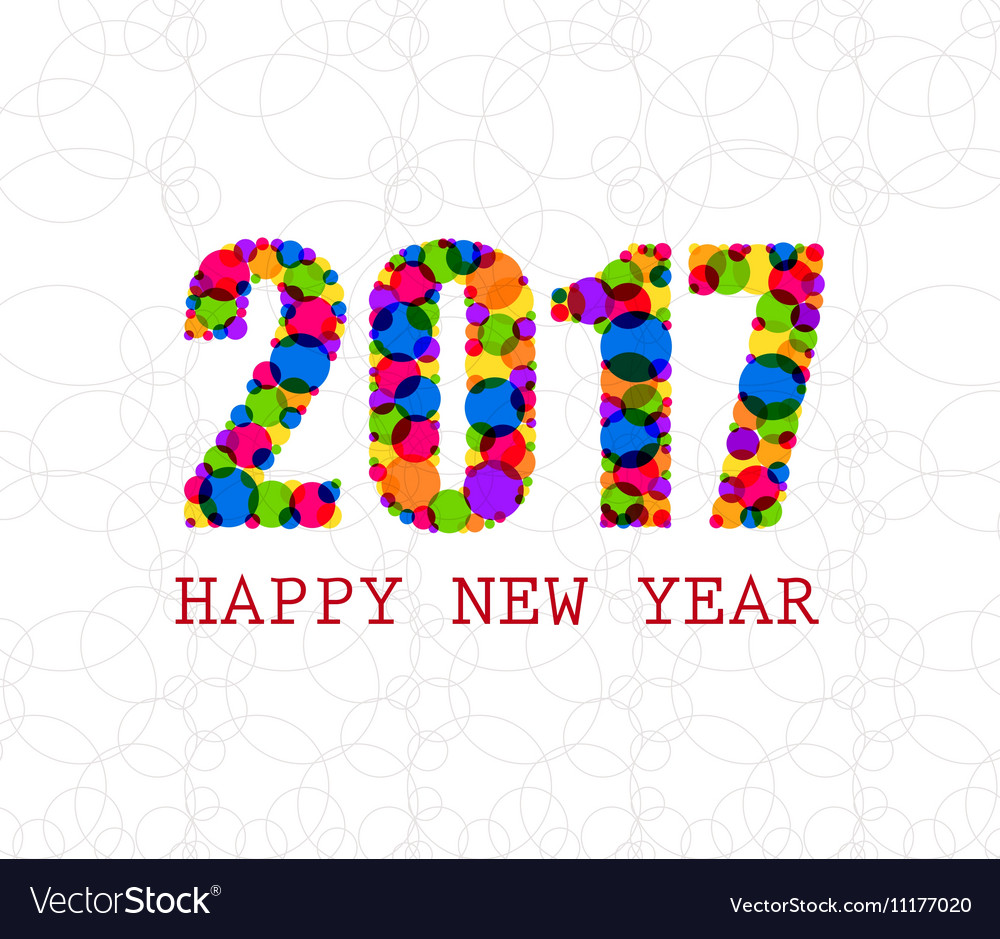 2017 Happy New Year Greetings Card Royalty Free Vector Image