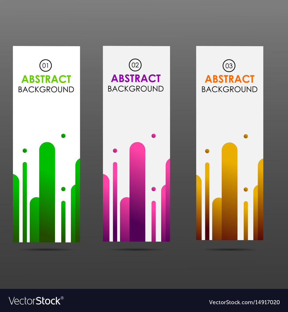 Banner abstract colorful shapes