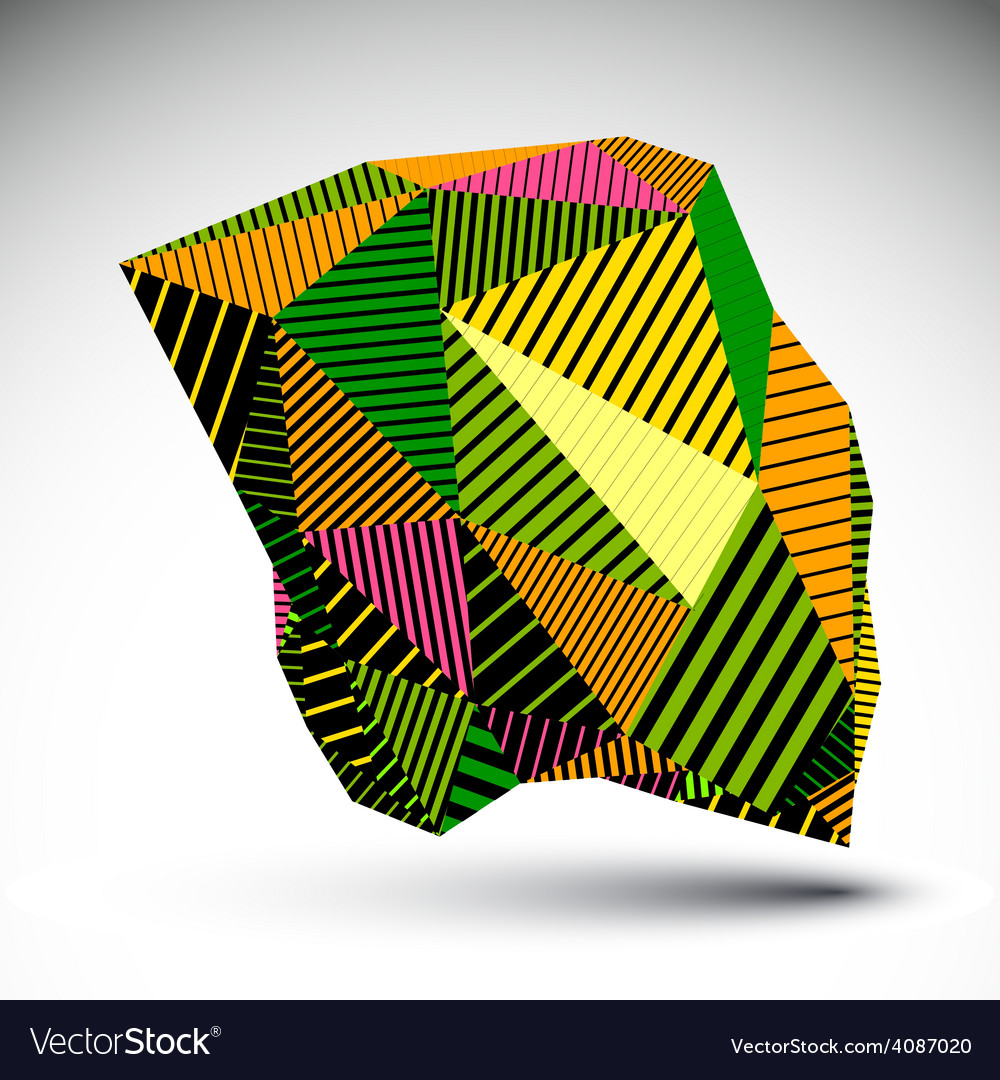 Bright geometric abstract 3D complicated backdrop