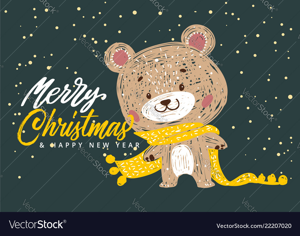 Christmas poster with bear