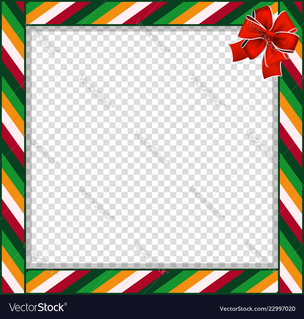 cute christmas or new year border with colored vector image