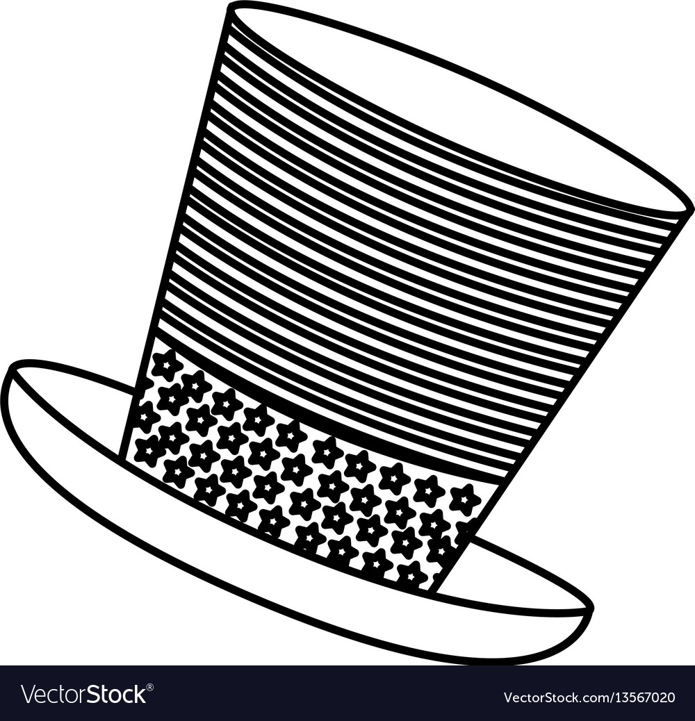 Figure hat independence day icon vector image