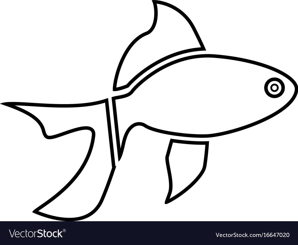 Fish black color icon