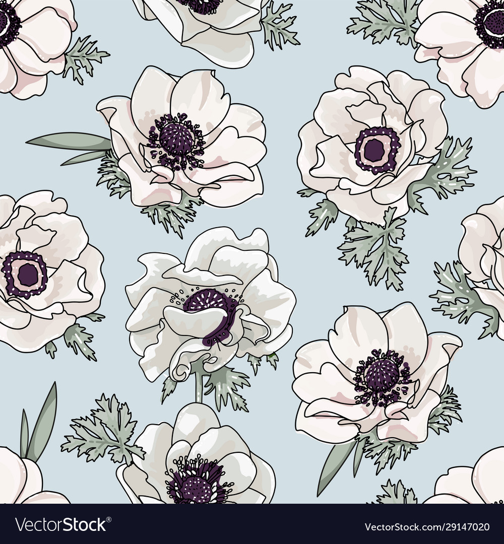 Gentle floral pattern with light biege spring