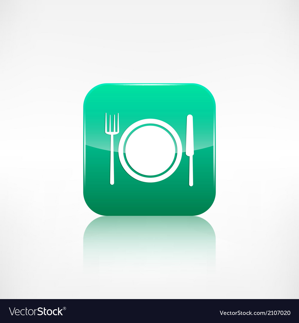 Platefork and knife icon Application button