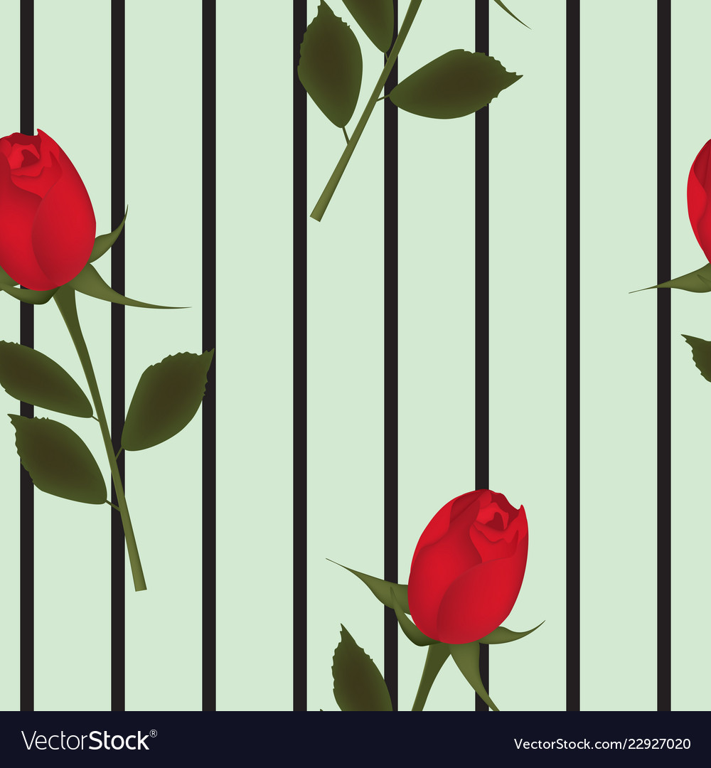 Red rose background seamless pattern