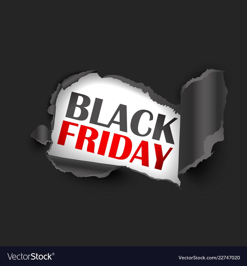 Torn paper black friday sale