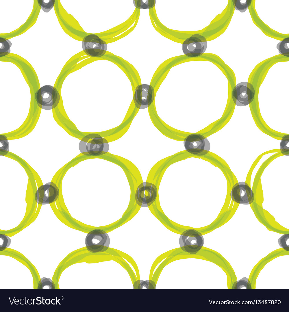 Watercolor sloppy circles seamless pattern