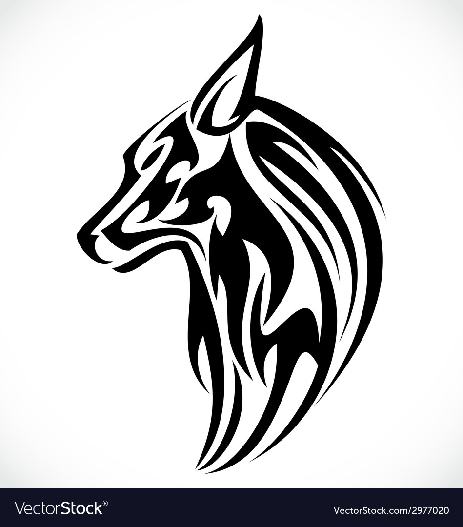 Wolf Stencil Tattoo Animal Vector Images 57