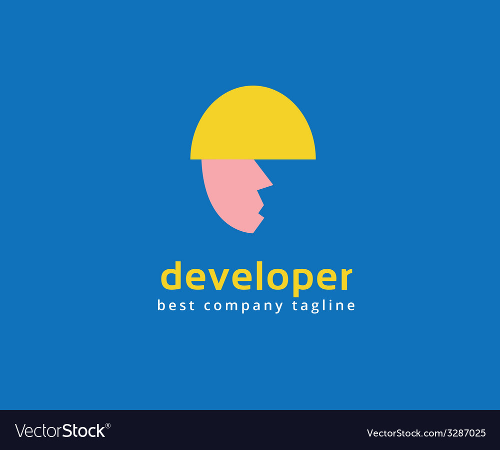 Abstract developer logo icon concept Logotype