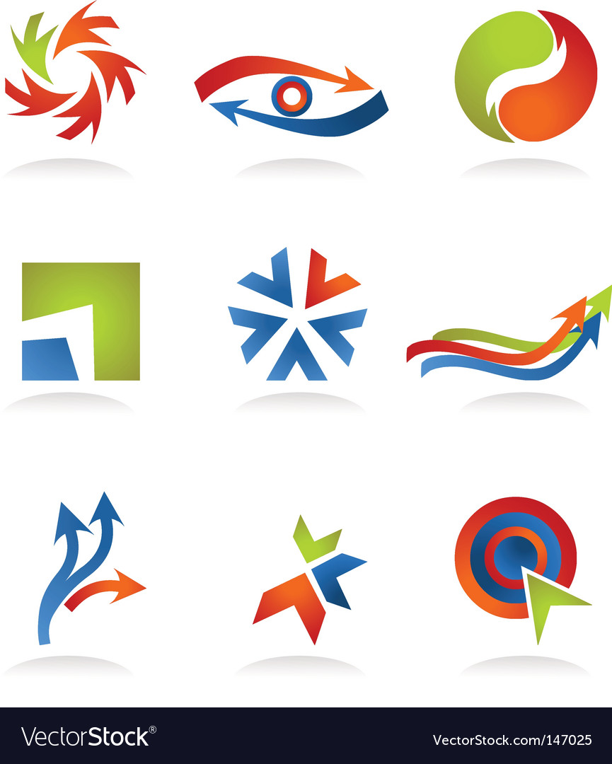 Abstract icons and logos