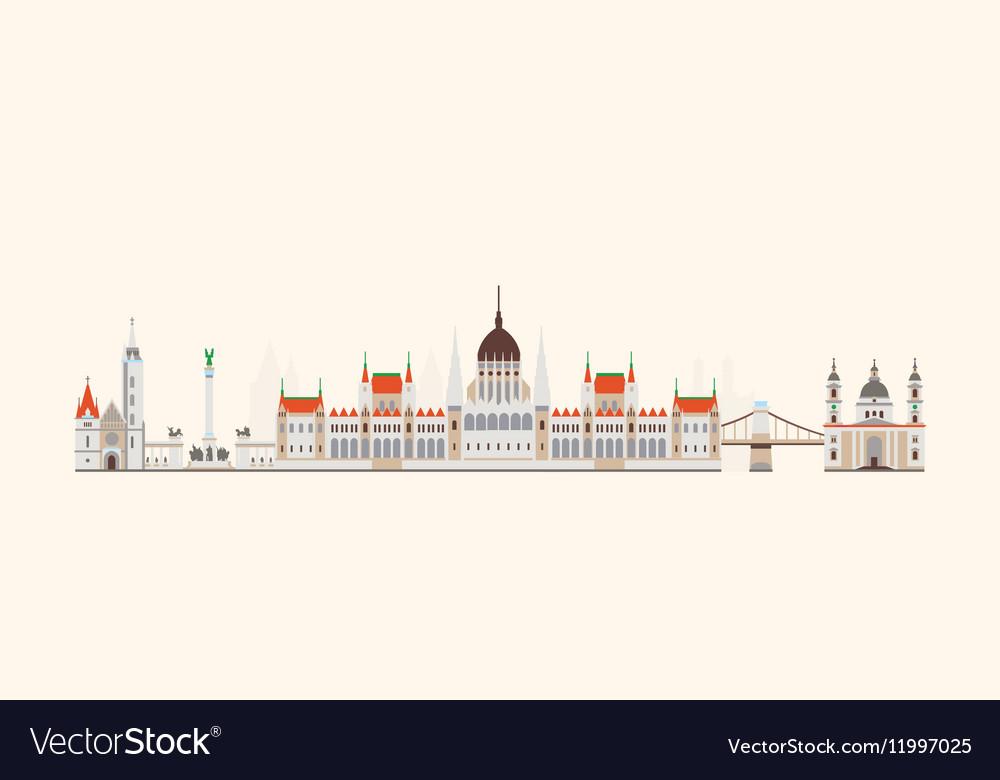 Budapest abstract skyline
