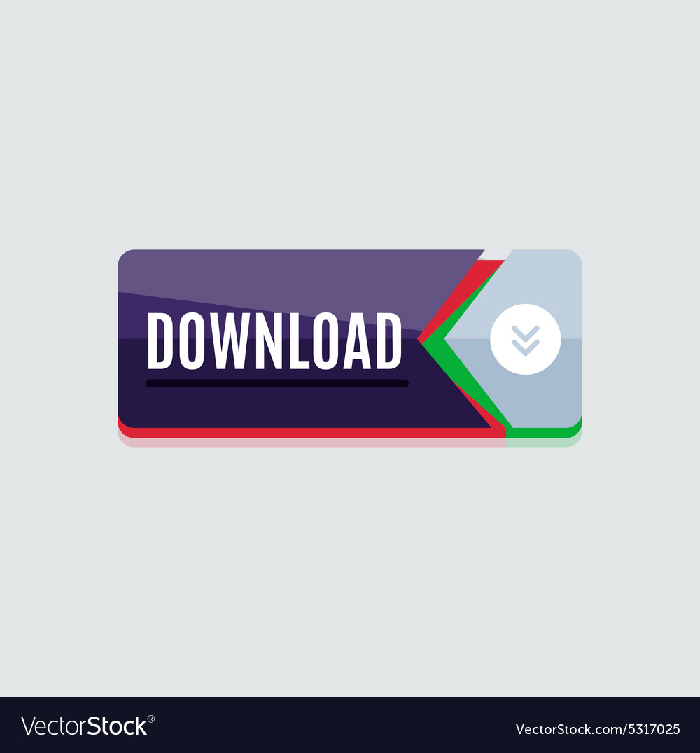 Colorful download web button Modern flat design