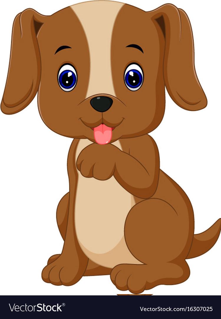 Cute dog cartoon Royalty Free Vector Image - VectorStock