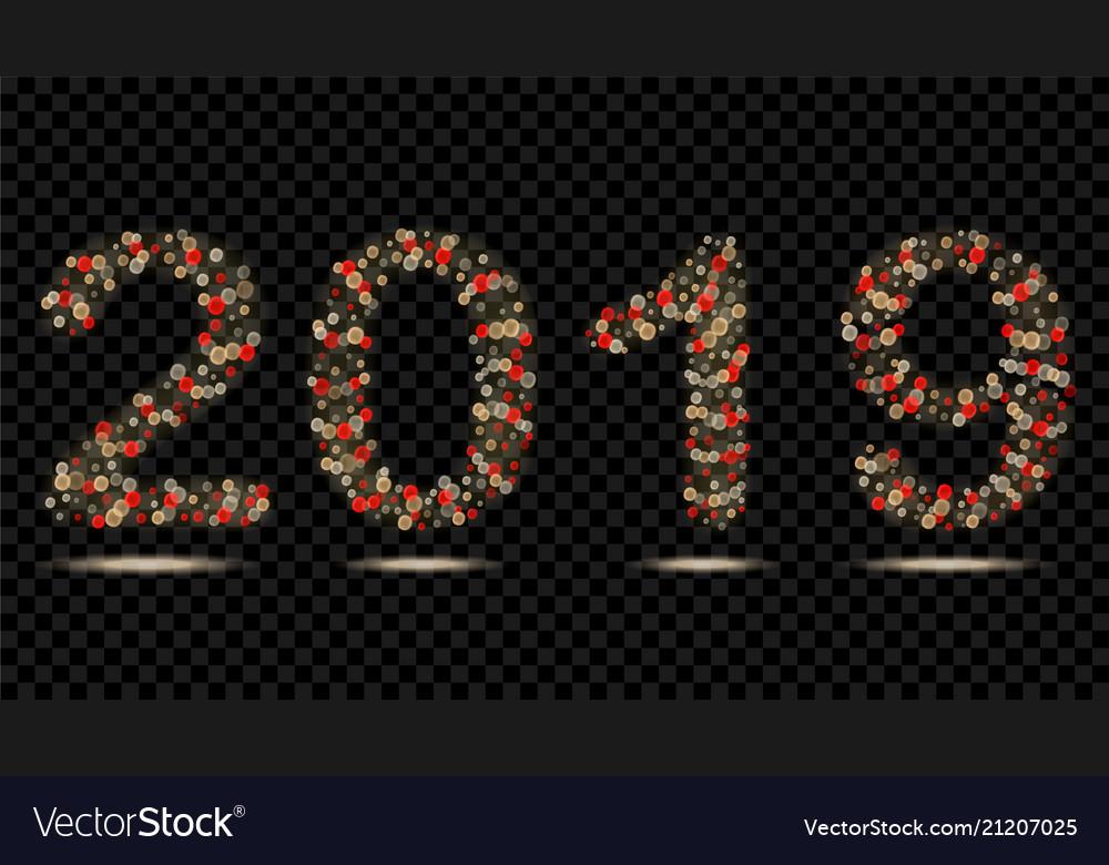 Digits 2019 fairy lights