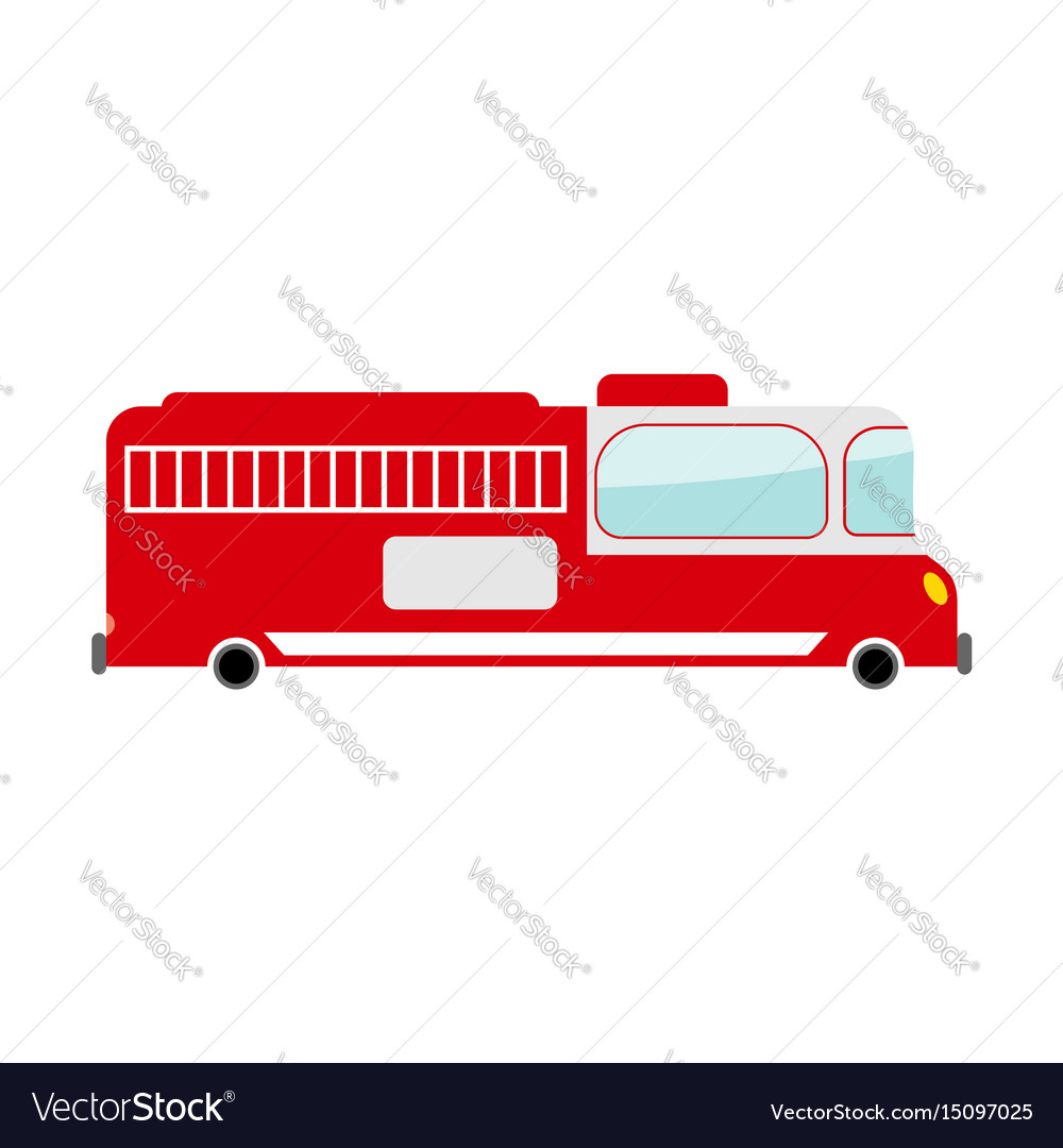 Fire truck isolated transport on white background