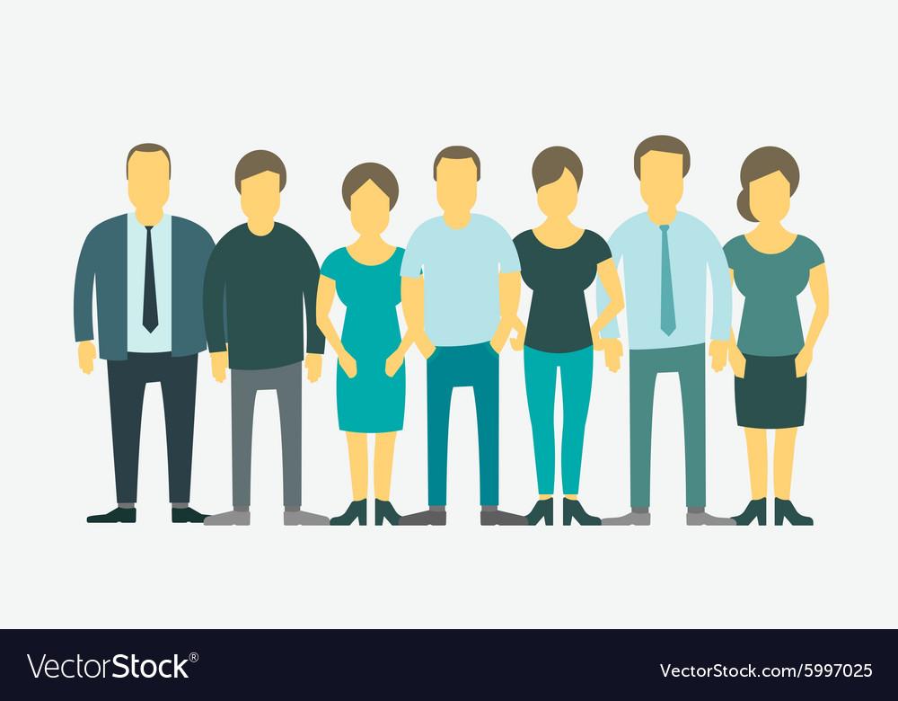 Flat set Business group company staff