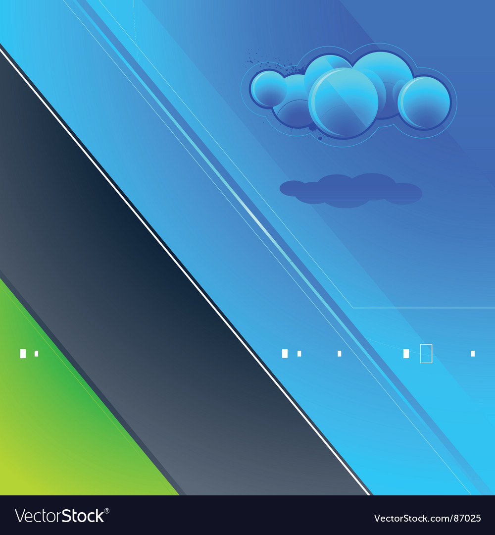 High tech nature background vector image