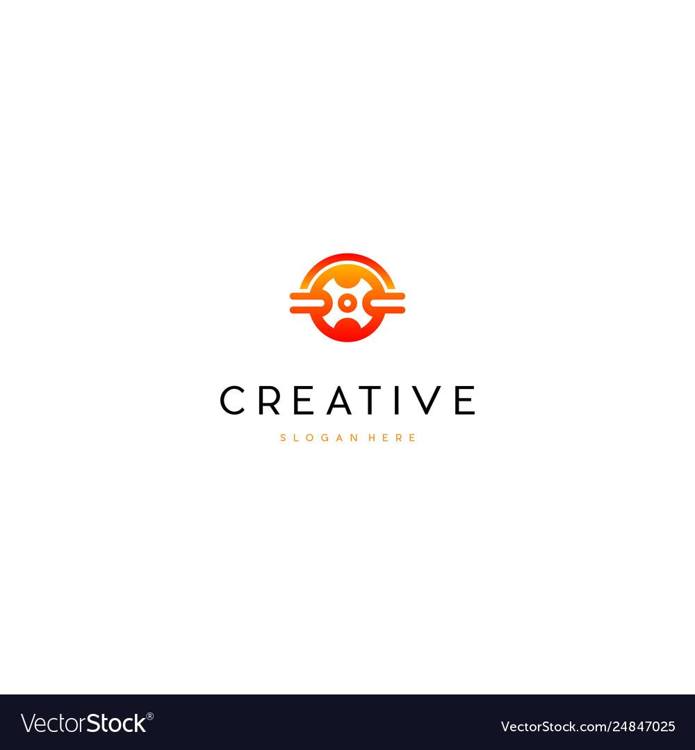 Hot Wheel Auto Creative Business Logo Design Vector Image