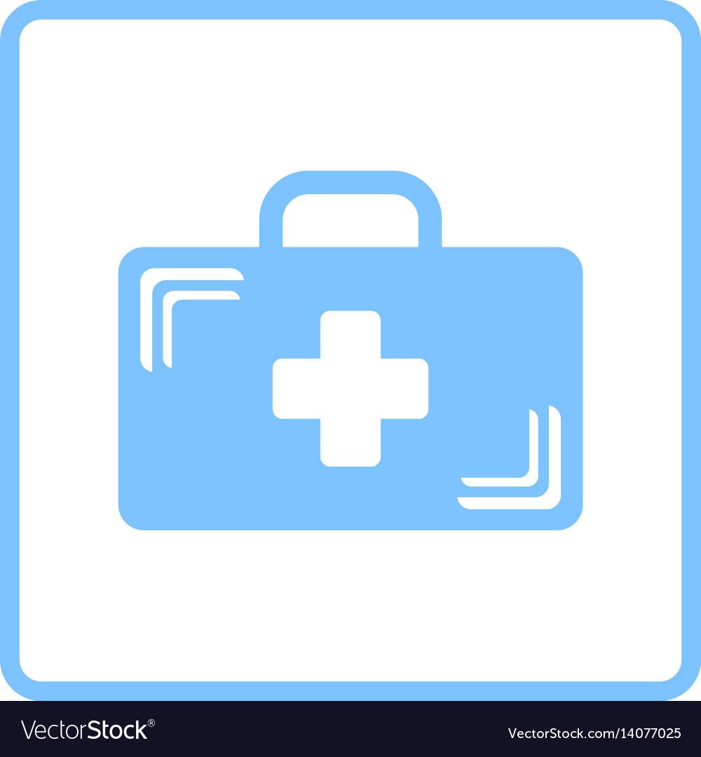 Medical case icon vector image
