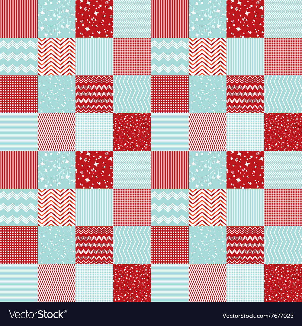 Pattern in patchwork style Merry Christmas