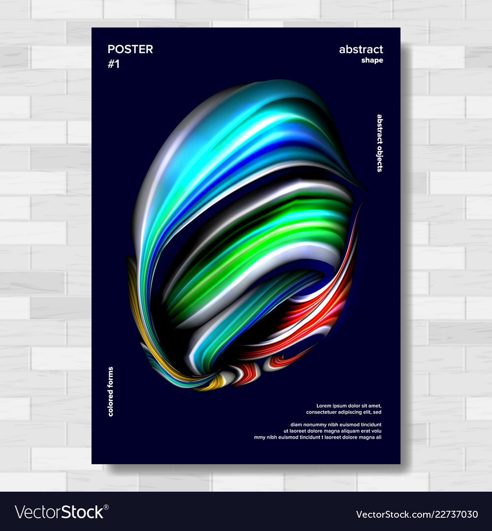 Abstract shape poster background for