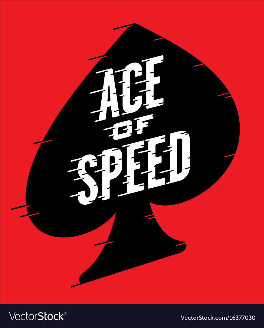 Ace of speed retro design