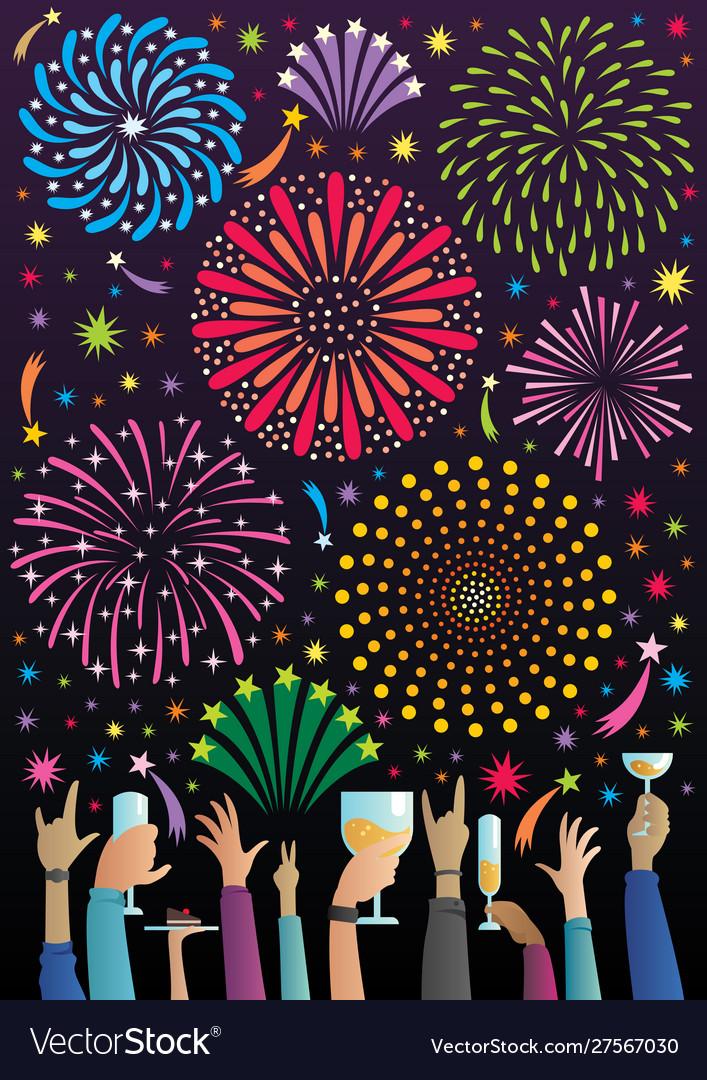 Celebration with fireworks