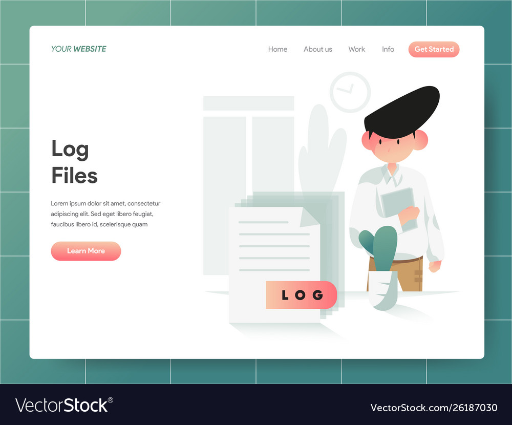 Computer log file concept modern design concept