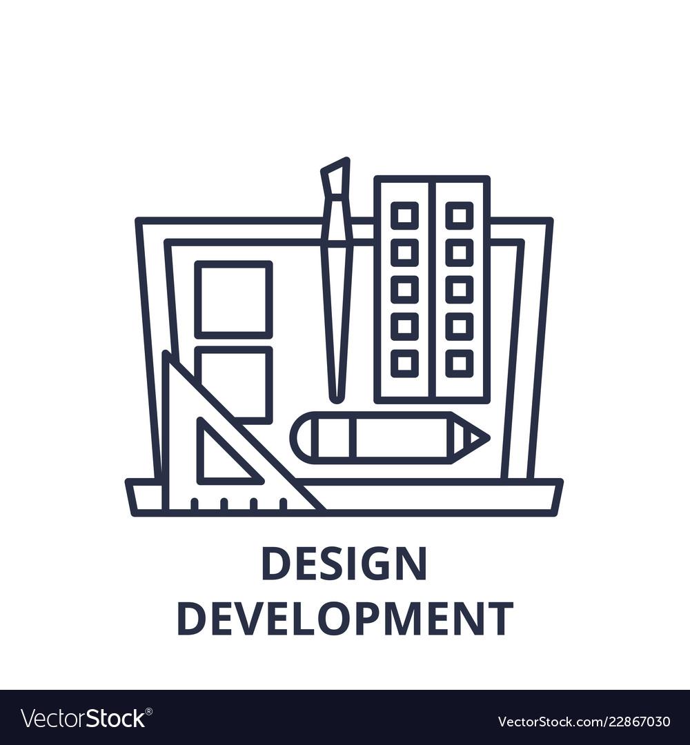 Design development line icon concept design