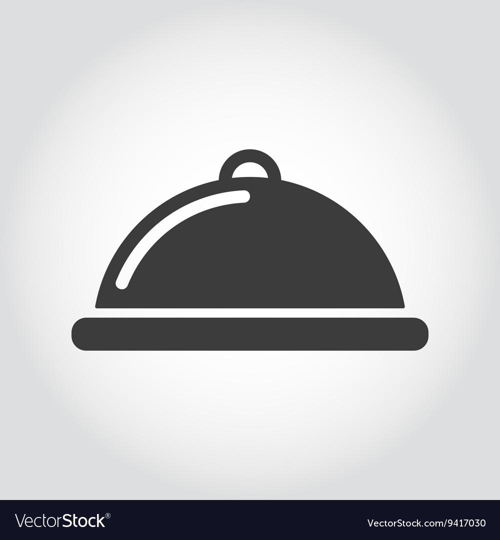 Grey food platter icon