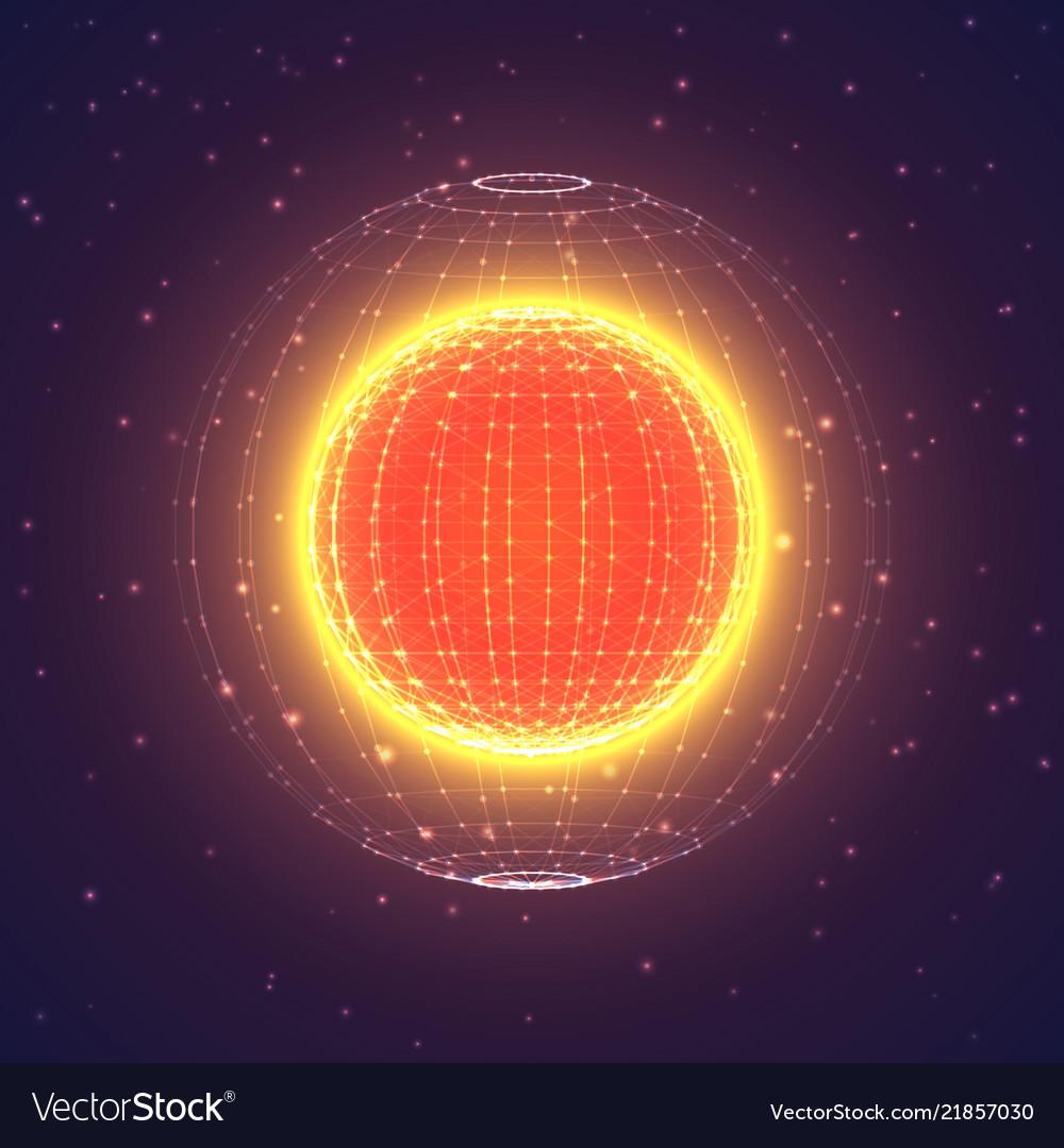 Interstellar space polygonal background