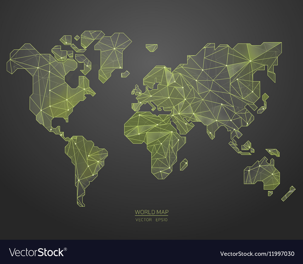 Low poly world map royalty free vector image vectorstock low poly world map vector image gumiabroncs Image collections