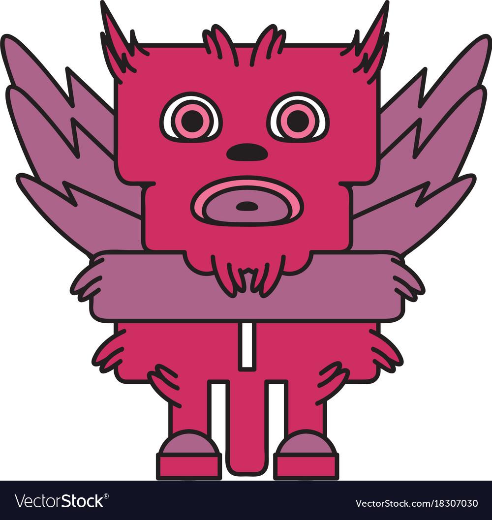 Monster character bird