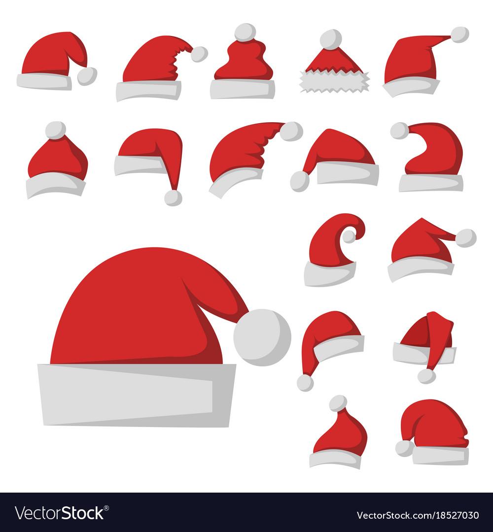 Santa claus fashion red hat modern elegance cap