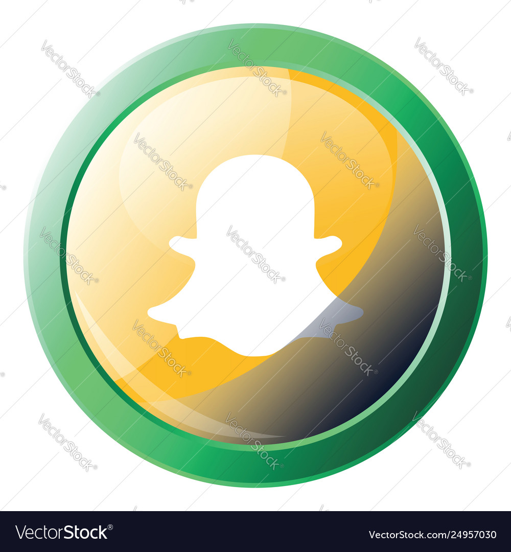 Snapchat logo with green round frame icon on a