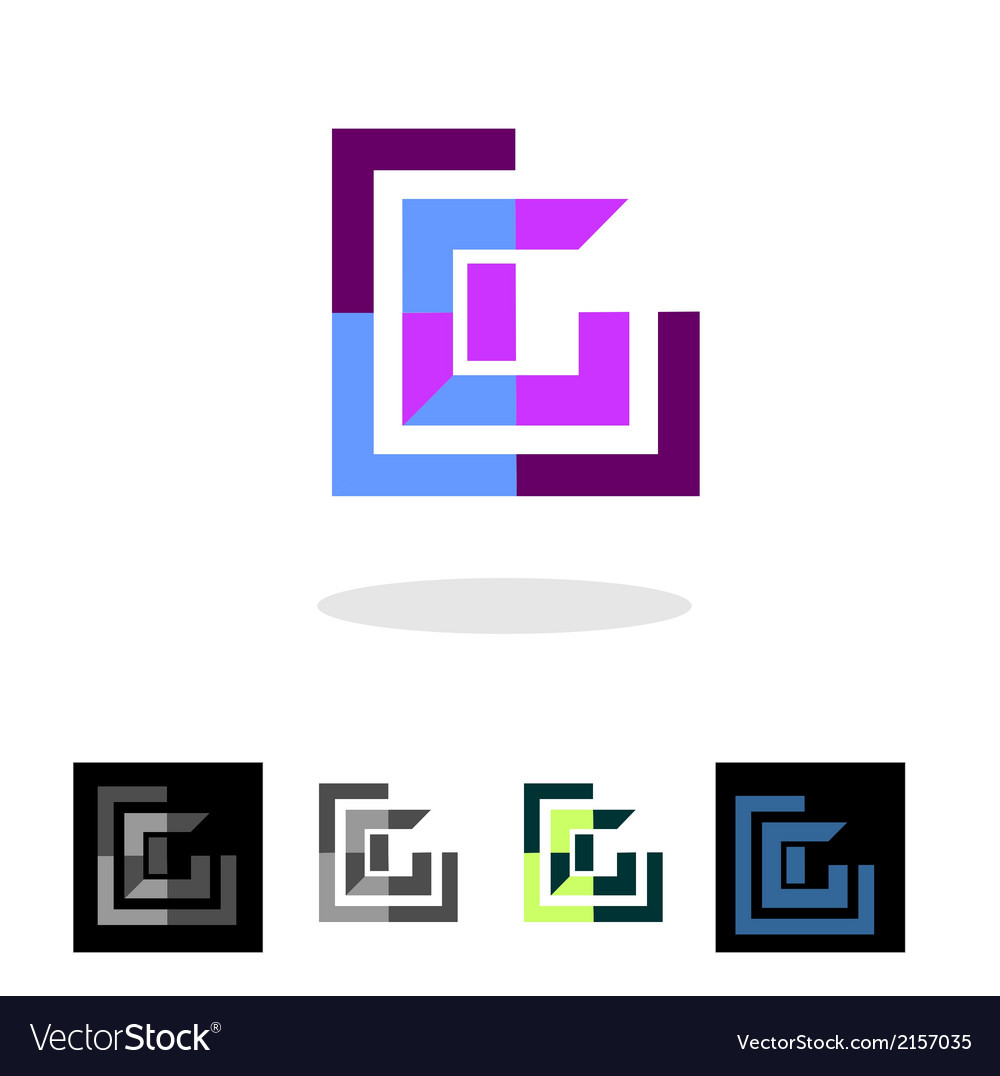 Abstract company logo and apps icon