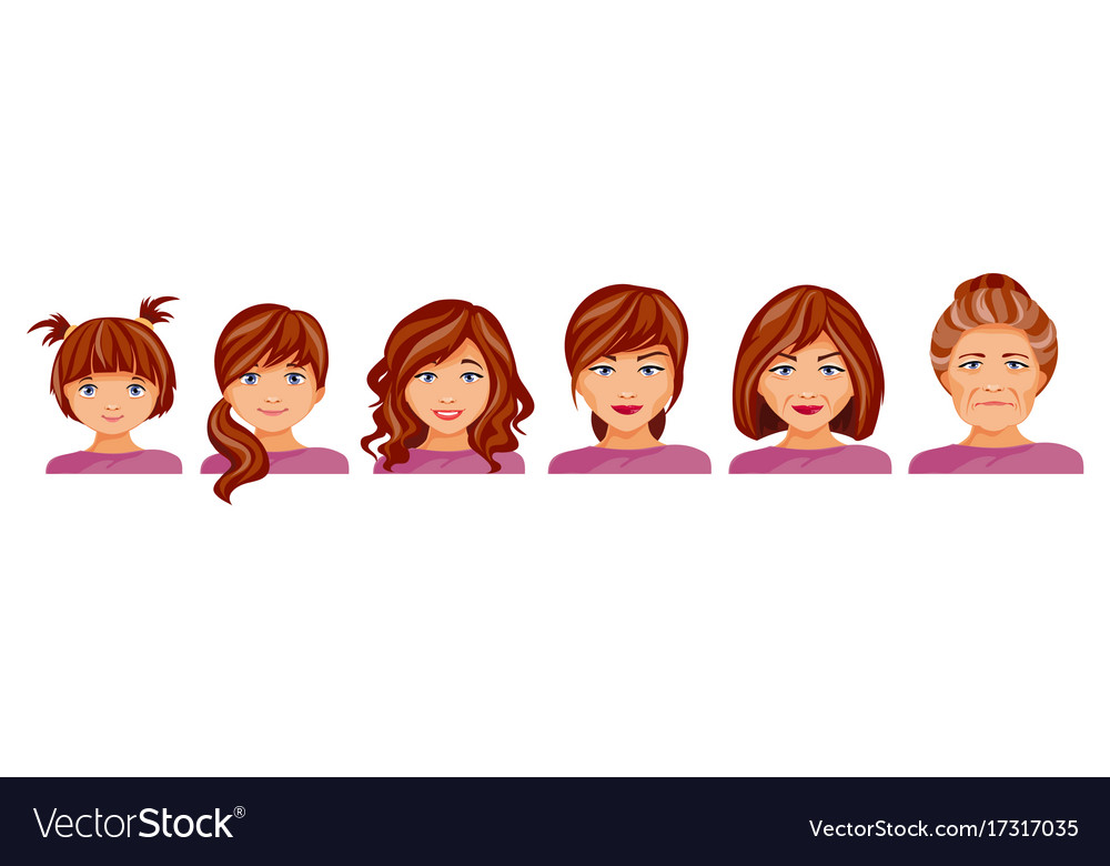Age stages of a woman