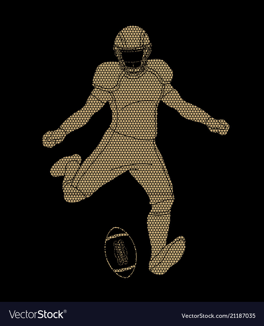 American football player sportsman action
