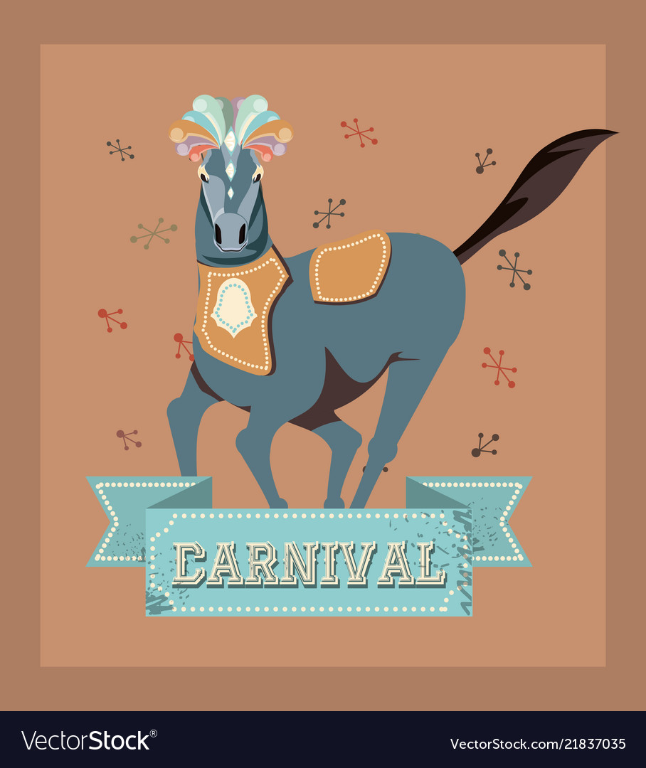 Carnival horse circus show decoration retro