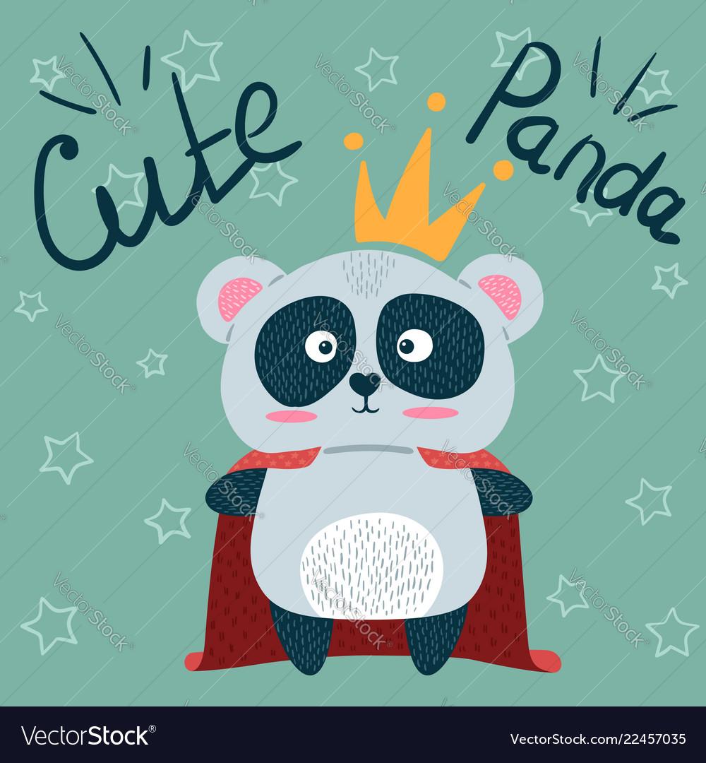 Cute little princess panda characters