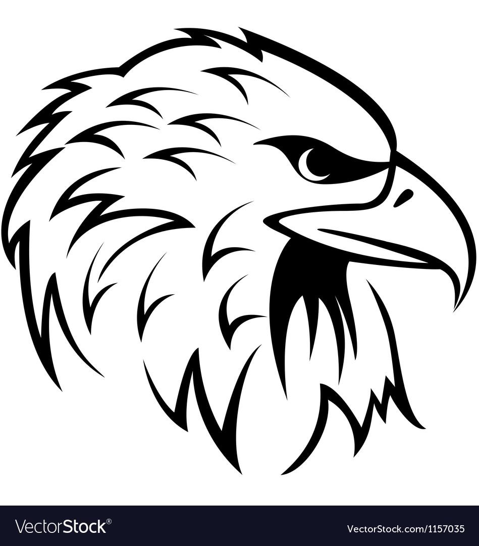 Eagle Head tattoo vector image
