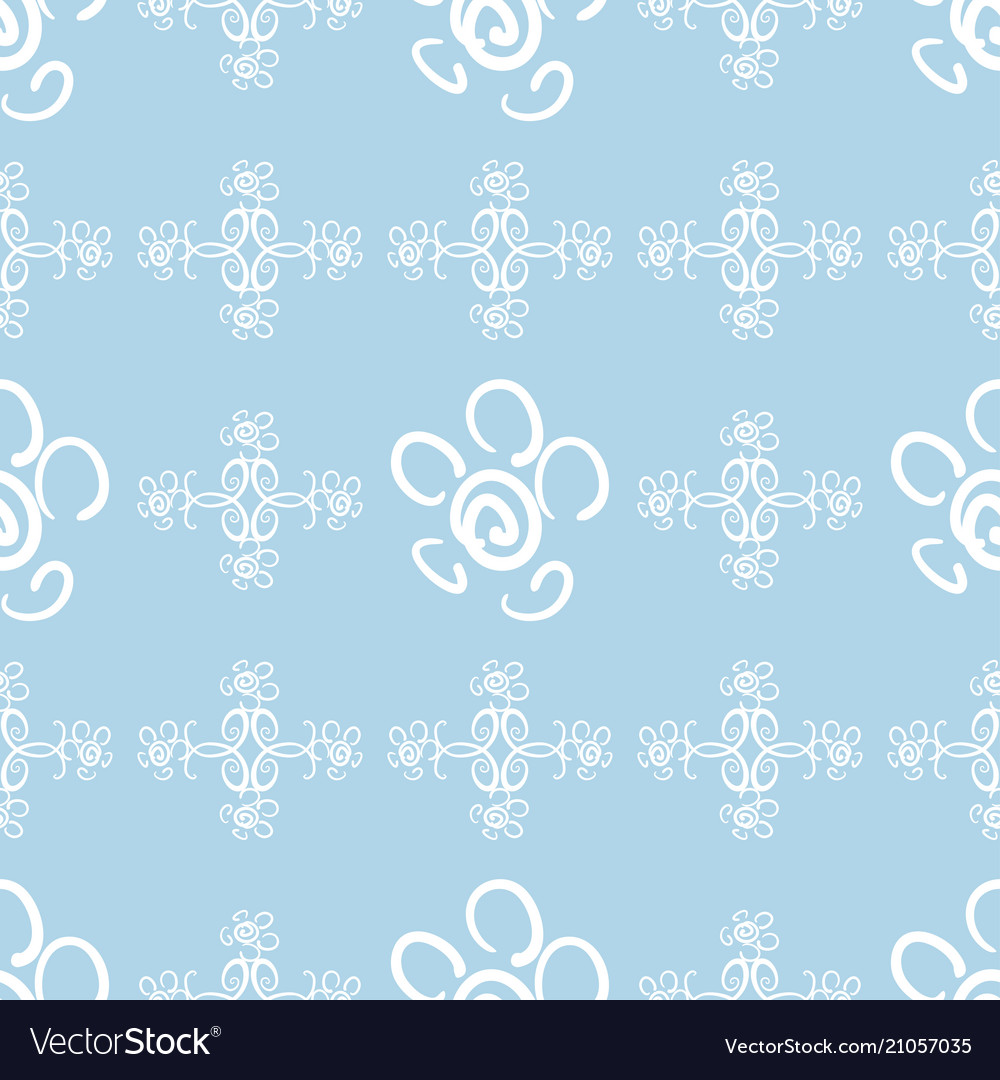 Flowers and ornament 5 vector image