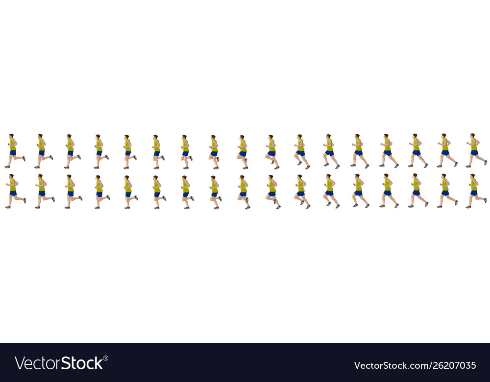 Man run cycle animation sequence
